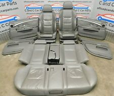 BMW 7 Series Seat M Sport Heated Electric Grey Leather Door Cards E65 E66 LCI