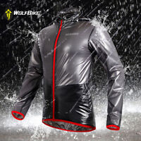 Unisex Cycling Rain Coat Waterproof Jacket Long Sleeve Windproof Jersey Tops