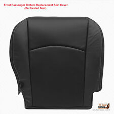 2009 2010 Dodge Ram 1500 Laramie PASSENGER Bottom Leather Seat Cover Dark Gray