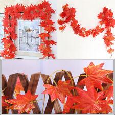 Artificial 8FT Autumn Maple Leaf ORANGE Garlands/DECORATION /DISPLAY/WEDDING
