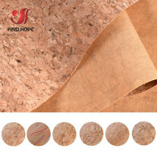 Printed Natural Cork Wood Leather Fabric Sheets Sewing Bag Material Craft Strips