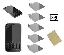 NEW PACK OF 5 SCREEN PROTECTOR FILM INVISIBLE GUARD FOR BLACKBERRY CLASSIC 2014
