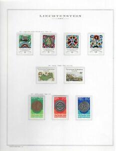 s23774) LIECHTENSTEIN MNH** 1977 Complete year set 25v (3 scans)