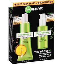 Garnier Skin Renew Dark Spot Corrector 1.7 Oz & Dark Spot Overnight Peel 1.6 Oz