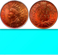 1907 PCGS MS64 RD Gorgeous RED Indian Head Cent SPECTACULAR! Old Green Holder 1C