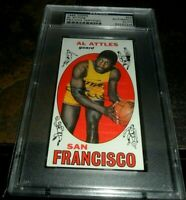 1969 TOPPS Al Attles Autographed Signed Card #24 SAN FRANCISCO Warriors PSA/DNA