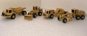 ERTL 1/64 Scale Caterpillar Grader Loader Dump Truck Scraper Lot Of 4
