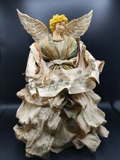 """16"""" Angle Tree Topper She Is Wearing a Paper Dress"""