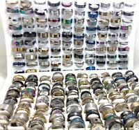 500pcs MIX Fashion Men Women Stainless Steel Rings Wholesale Jewerly Lot
