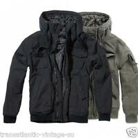BRANDIT VINTAGE BRONX JACKET MILITARY STYLE SHORT ARMY PARKA OLIVE and BLACK
