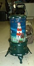 Home Decor Lighthouse Scene Painted Old Time Style Heater - Lights Up