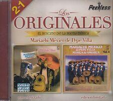 Mariachi Mexico de Pepe Villa Los Originales 2 en 1 CD New Nuevo sealed