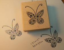"""Butterfly """"hearts"""" P6 rubber stamp"""