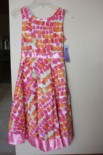 Dress Miss Attitude Pink Party  Dress  SZ 10 Layered NEW NWT