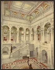 Libreria del Congresso Central Stair Hall A4 FOTO STAMPA