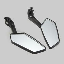 2X Universal Motorcycle Scooter Rear View Mirrors 8mm 10mm For Yamaha Honda