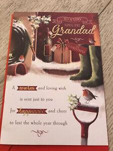Grandad christmas card celebration new with envelope