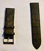 Neu hochwertiges Elysee Uhrenband Uhrenarmband Leder Black  22mm E404