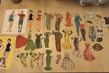 New ListingVintage Paper Dolls, 50+ Piece Lot, Cut/uncut, Some Duplicates, Notes