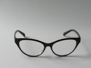 Betsey Johnson CAT EYE Reading Glasses Readers Black NEW