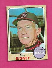1968 TOPPS # 416 ANGELS BILL RIGNEY MANAGER  NRMT  CARD (INV# A9515)
