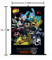 "Hot Anime Five Nights at Freddy's Game Home Decor Poster Wall Scroll 8""x12"" 02"