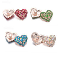 5PCS Love Crystal Chunk Charm Snap Button Fit 18mm Drill Noosa Jewelry 38-5