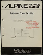 Alpine 3508 Bridgeable Power Amplifier Service Manual