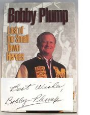 Bobby Plump Last of the Small Town Heroes Milan Indiana SIGNED Basketball Book