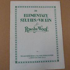 violin 50 ELEMENTARY STUDIES, Rowsby Woof, abrsm