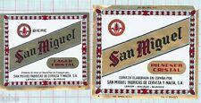 SPAIN - San Miguel Fabricas De Cerveza y Malta SA - Cristal - beer labels C1355