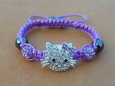 sale ! Lovely Cat Girl Children or kids Shamballa Bracelet Jewelry gifts AAAA