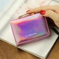 Women Bifold Wallet Clutch Credit Card Holder  Purse Handbag Holographic