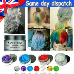 ⭐⭐Mofajang 6 Colors Unisex Hair Color Wax Mud Dye Styling Cream DIY Coloring UK⭐
