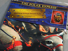 "LIONEL THE POLAR EXPRESS ""SANTA IN SLEIGH"" HOUSE FLAG train holiday 9-33074"