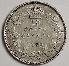 1908 Canadian Dime.  V.F.-X.F.  103117