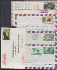 JAMAICA 1981/3 COMMERCIAL AIRMAIL COVERS (x5) (ID:621/D41702)
