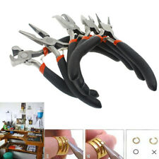 5pc Jewelers Pliers Set Jewelry Making Beading Wire Wrapping Hobby DIY Plier Kit