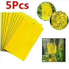 Large Area Yellow Hanging Sticky Glue Flying Pest Insect Trap Catchers Bug UK.M