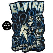 Elvira Mistress of the Dark Back Patch Embroidered Iron Jacket Applique Monster