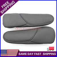 For Honda CRV 10-17 Synthetic Leather Seat Armrest Cover Shell Trim Black Pair