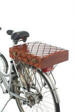 Elasticated Bicycle Luggage Cargo Net - Keep Bulky Items Secure on Pannier Rack