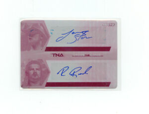 TNA Cross The Line 2008 Dual Autograph Storm & Roode Printing Plate 1/1 SP  Beer