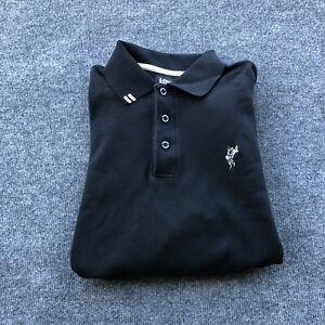 Ashworth Men's Black XL Long Sleeve Henley Golf Sweater Logo EZ Tech Pullover