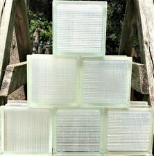 Vintage Reclaimed Architectural Glass Building Blocks -Ribbed Pattern.