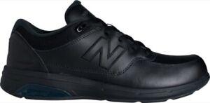 New Balance | MW813 Walking Shoe (Men's) in Black Leather - NEW