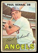 1967 TOPPS OPC O PEE CHEE BASEBALL #58 Paul Schaal VG-EX CALFORNIA ANGELS