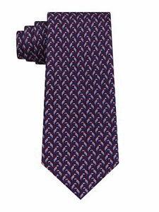 TOMMY HILFIGER Mens Navy Parrot Printed Silk Classic Neck Tie