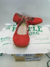 EL NATURALISTA Womens CROCHE Antique Red Leather Ballet Flat Size US 7