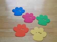 25 Die Cut Cardstock Red Blue 4 Inch Puppy Dog Paw Prints Dog Birthday Party